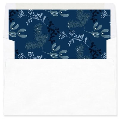 Joy Typography Blue Envelope Liner