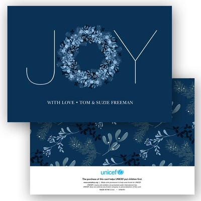 Joy Typography in Blue