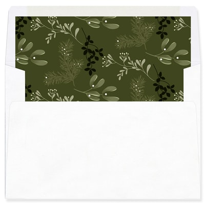 Joy Typography Green Envelope Liner