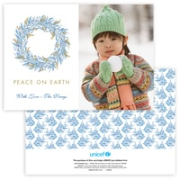 Touch of Greenery Photo Card in Blue