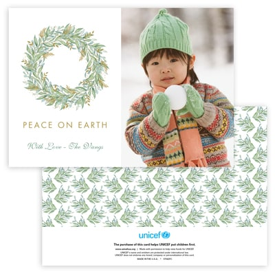 Touch of Greenery Photo Card in Green