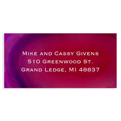 Marble Holiday Burgundy Address Label
