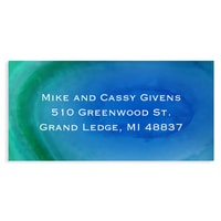 Marble Holiday Blue Address Label