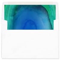 Marble Holiday Blue Envelope Liner