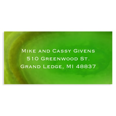 Marble Holiday Green Address Label