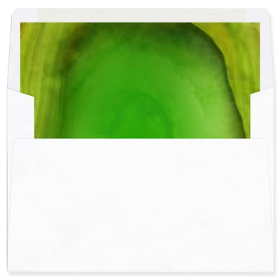 Marble Holiday Green Envelope Liner