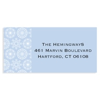 Icy Pastel Wishes Blue Address Label