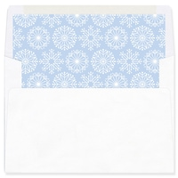Icy Pastel Wishes Blue Envelope Liner