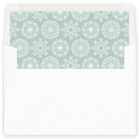 Icy Pastel Wishes Green Envelope Liner