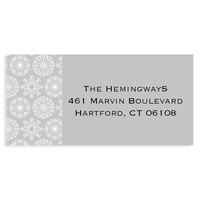 Icy Pastel Wishes Grey Address Label