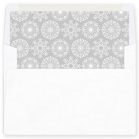 Icy Pastel Wishes Grey Envelope Liner