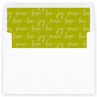 Joyous World Green Envelope Liner