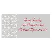 Joyous World Grey Address Label