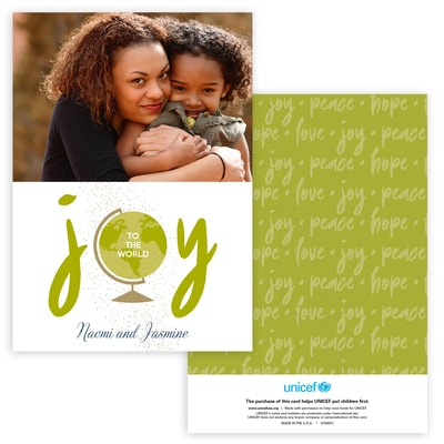 Joyous World Photo Card in Green