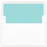 Dove of Joy, Love and Peace Aqua Envelope Liner