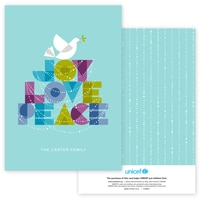 Dove of Joy, Love and Peace in Aqua
