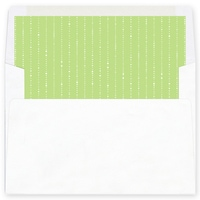 Dove of Joy, Love and Peace Green Envelope Liner