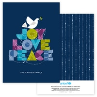 Dove of Joy, Love and Peace in Navy