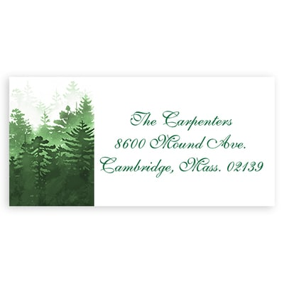 Winter Forest Green Address Label