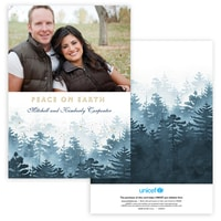 Winter Forest Photo Card in Blue