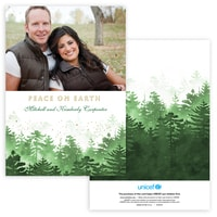 Winter Forest Photo Card in Green