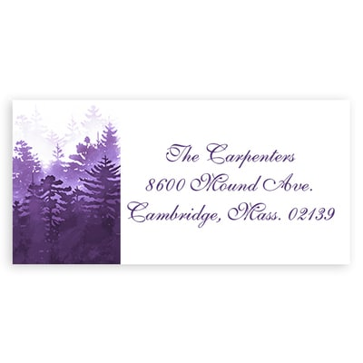 Winter Forest Purple Address Label