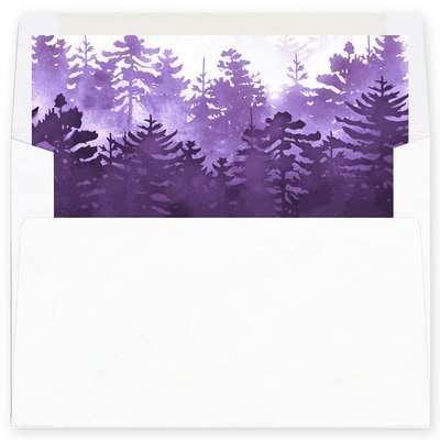 Winter Forest Purple Envelope Liner