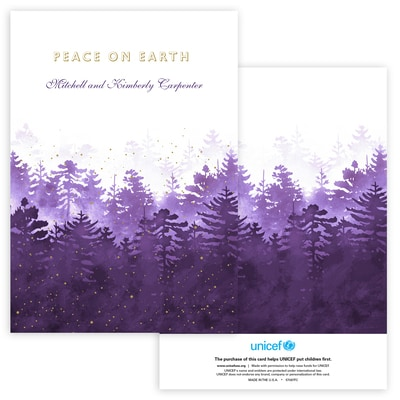 Winter Forest in Purple