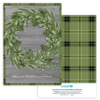 Rustic Christmas Wreath in Green