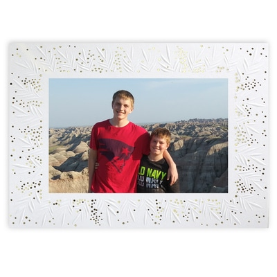 Leaves and Dots Photo Frame