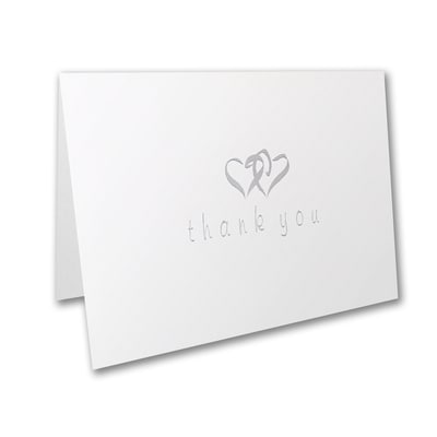 Shining Hearts of Thanks - Thank You Note - Blank