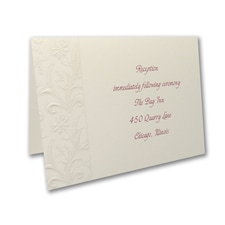 Wrapped Charm on Cream - Reception Card