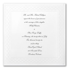 Etched Bliss - Square Invitation