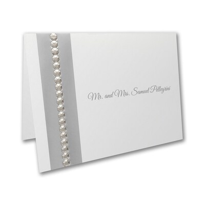 Silver Sequin - Thank You Note