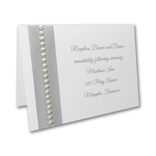 Silver Sequin - Reception Card