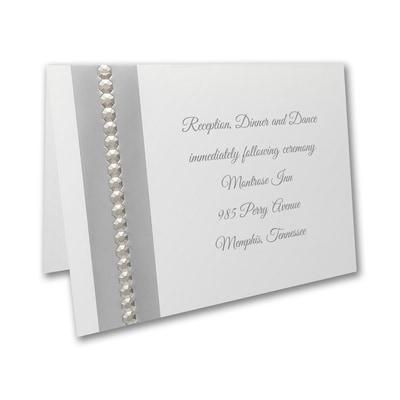 Silver Sequin - Reception Card