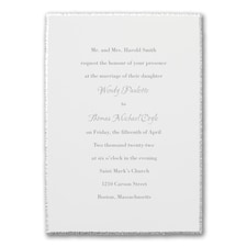 Vintage Silver Edge - Invitation