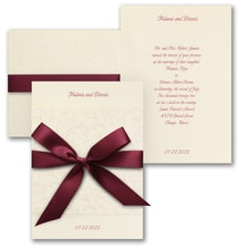 Wrapped Charm on Cream - Invitation
