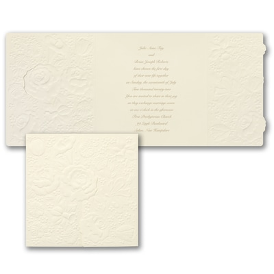 Garden Charm on Cream - Invitation
