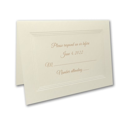 Golden Years Response Card and Envelope