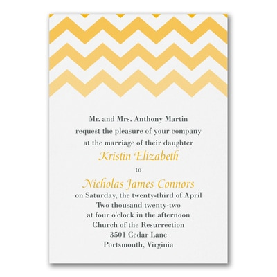 chevron chic invitation wedding invitations carlson craft