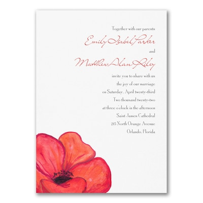 Poppies - Invitation