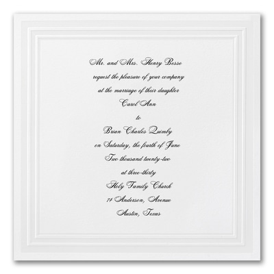 Graceful Crystal - Square Invitation