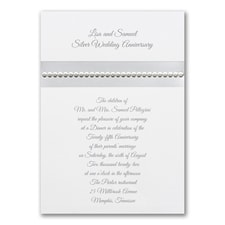Anniversary Invitation: Silver Sequin