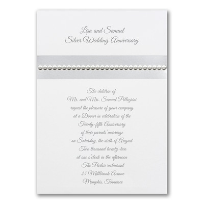 Silver Sequin - Invitation
