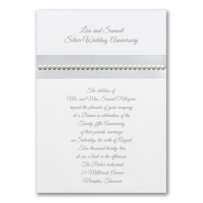 Silver Sequin - Invitation