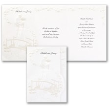 Wedding Invitation: Interlude on Floral Paper