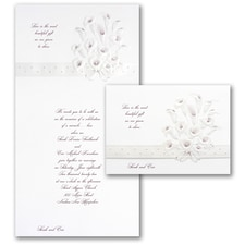 Calla Lily Bouquet in Burgundy - Invitation