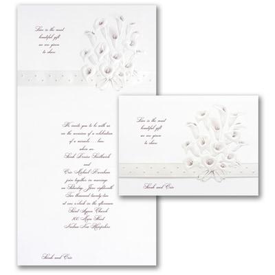 Calla Lily Bouquet in Burgundy - Invitation