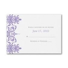Charming Damask - Response Card and Envelope